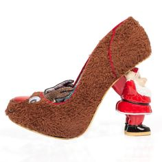 Irregular Choice 'Rudolph', brown, Santa Heel. Christmas junkie.