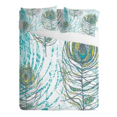 Rachael Taylor Peacock Feathers Sheet Set | DENY Designs Home Accessories