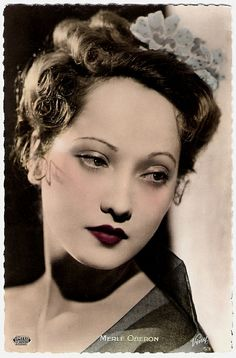 bobspostcards:  Merle Oberon on Flickr.French postcard by Viny, no. 53. Photo: United Artists.