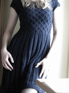 Ravelry: Project Gallery for 09 Grey Dress pattern by Rebecca Design Team - knit the honeycomb part longer (to my actual waist)