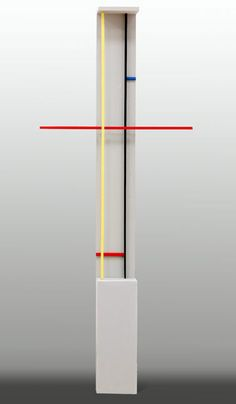 Sculpture Untitled.  Burgoyne A. Diller was an American abstract painter. Many of his best-known works are characterized by orthogonal geometric forms that reflect his strong interest in the De Stijl movement and the work of Piet Mondrian in particular.