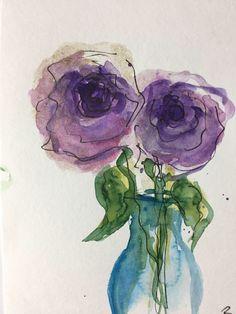 ORIGINAL AQUARELL Aquarellpostkarte Blumen Rosen abstrakt Kunst Art Watercolor abstract painting von GalerieSilberschatz auf Etsy https://www.etsy.com/de/listing/564560612/original-aquarell-aquarellpostkarte