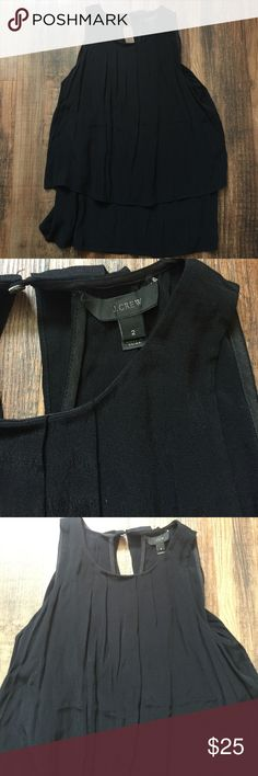"J. Crew Black Layered Sleeveless Top J. Crew Black Layered Sleeveless Top.  Great condition.  Approx 22"" length.  Bin C2. J. Crew Tops Blouses"