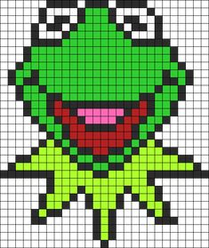 Kermit The Frog Perler Perler Bead Pattern | Bead Sprites | Characters Fuse Bead Patterns
