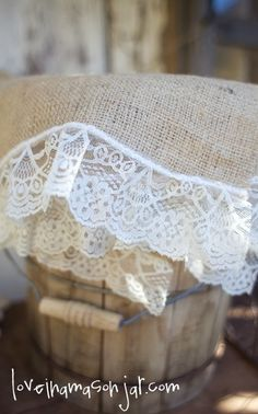 Burlap and Lace placemats (set of four) - Rustic Wedding Decor - Home Decor - Shower [This is an Etsy seller, so no directions, but it should be relatively simple to do. Lace Runner, Burlap Table Runners, Burlap Fabric, Burlap Lace, Fabric Paper, Wedding Decorations, Table Decorations, Wedding Ideas, Wedding Crafts