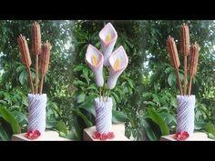 How To Make 3D Origami Flower Vase V8 | DIY Paper Flower Vase Home Decor - YouTube