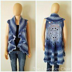 Ravelry: Midnight Star Mandala Vest pattern by Dorianna Rivelli