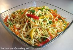 Cold Asian Noodle Salad…perfect for hot summer nights when I don't want to heat up the house.