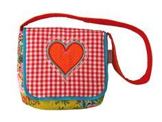 Kindergartentasche Herz rot/grün von JaClar auf DaWanda.com