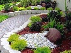 Why cultivate a rock garden? They're low-maintenance. They're in season all year round. They add variety to the landscape. Need another reason? Rock gardens are creative reflection of amazing…MoreMore #LandscapingIdeas