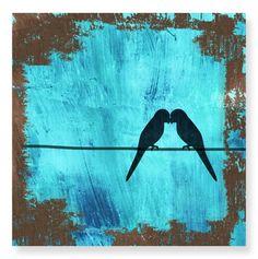 Love Birds Canvas Art.