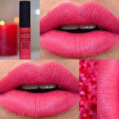 NYX Soft Matte Lip Cream called Ibiza. Such a pretty Color. :)