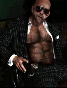 suited hairy daddy