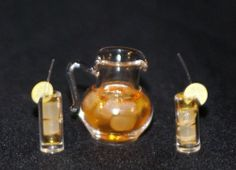 ICE TEA SET Dollhouse Miniature Food  Drinks1/12 Scale Kitchen Beverages #FalconMiniatures