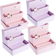 New DIY Paper Board Storage Box Desk Decor Organizer Stationery Makeup Cosmetic | eBay