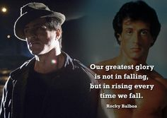 Rocky Balboa 5 - motivation - boxing - greatest glory quote - A3 Poster
