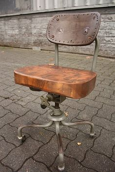 vintage industrial metal office chair metal. Love This Chair Wheels Yeah Vintage Industrial Metal Office