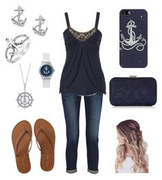 """""""anchors"""" by a-hidden-secret ❤ liked on Polyvore featuring Frame Denim, Aéropostale, Casetify, FOSSIL, Bling Jewelry, BERRICLE, Accessorize, women's clothing, women and female"""