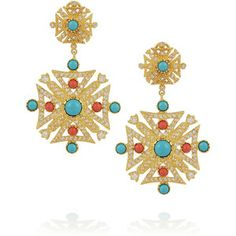 Kenneth Jay Lane Gold-plated cubic zirconia earrings