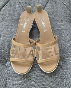 Chanel sliders of dreams Slingback Chanel, Espadrilles Chanel, Chanel Shoes, Chanel Sandals, Chanel Chanel, Cute Shoes, Me Too Shoes, Mode Chanel, Mode Outfits