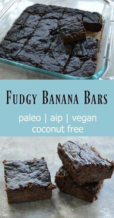 Fudgy Banana Bars (Paleo, AIP, Vegan) - Gutsy By Nature