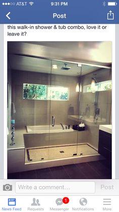 Walk in Shower & tub combo