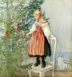 HAPPY BIRTHDAY, LUCIA! Decorating The Tree by Carl Larsson