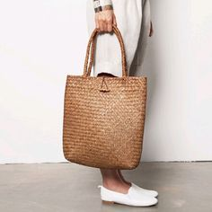 2016 New Beach Bag for Summer Big Straw Bags Handmade Woven Tote Women Travel Handbags Designer Vintage Shopping…