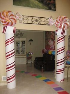"""Photo 1 of Candyland / Birthday """"Valentina in Candyland"""" Candy Land Christmas, Ward Christmas Party, Office Christmas, Xmas Party, Christmas Holidays, Christmas Crafts, Birthday Parties, Christmas Arch, Girl Birthday"""