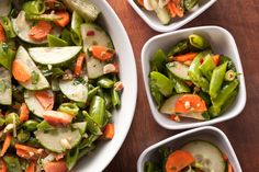 Snap Pea Chopped Salad with Thai Vinaigrette.