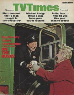 The first episode of On The Buses, featuring on the cover of TV Times, February London Weekend Television. Vintage Tv, Vintage Magazines, British Tv Comedies, Michael Craig, Are You Being Served, Time Magazine, Magazine Covers, Color Television, Life In The Uk