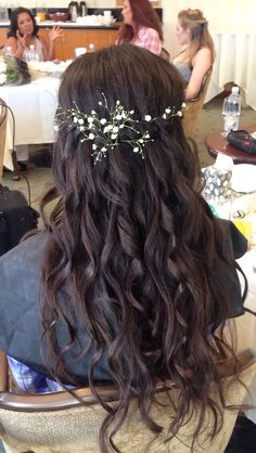 Waterfall braids hair style for bride