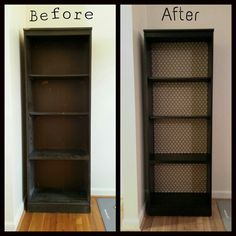 bookshelf refurbished with spray paint and 1 paper - Painted Bookshelves Ideas