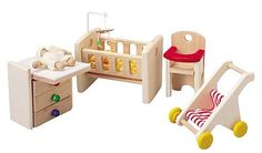 PlanToys Dollhouse Nursery - Free Shipping - this is a dollhouse must have- PURCHASED