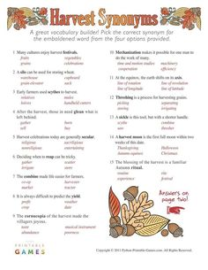 image regarding Autumn Trivia for Seniors Printable named 10 Suitable Tumble Harvest Printable Online games illustrations or photos inside 2015
