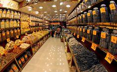 corridor with jars - Chinese herbal medicine shop, Hong Kong, China.