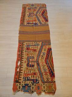 Old West Anatolian Kilim size.260x85cm