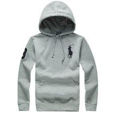 81638f27b0d79 Ralph Lauren Man Hoodies Big Pony Full Zip Black 1 Áo Trùm Đầu