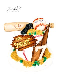 Sandlot cake perfect for that baseball fan in your life. Call or email to order your celebration cake today. Click visit below for more information. Cakes Today, The Sandlot, Cupcake Wars, Desserts To Make, Celebration Cakes, Custom Cakes, Cake Designs, Food Network Recipes, First Birthdays