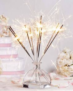 100 X Cheap Big Wedding Gold Sparklers