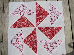 Pinwheel Quilt Block - Katy's Dutchman's Puzzle by toggpine, via Flickr