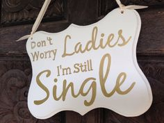 Ring Bearer Sign Gold Wedding sign Don't Worry by iDecor4you