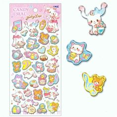 kawaii hard 3D stickers with cute puppy dog cat bear music note Japan 2