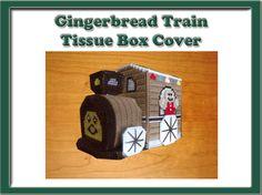 Gingerbread Train Tissue Box Cover