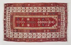 Kilim, early 20th century. Wool, tapestry technique, Old Dims: 36 1/2 x 59 15/16 in. (92.7 x 152.2 cm). Brooklyn Museum, Gift of Dr. Bertram H. Schaffner, 2003.53. Creative Commons-BY (Photo: Brooklyn Museum, 2003.53_transp6121.jpg)
