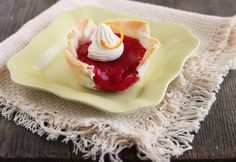 Strawberry Pudding..Makes 2 Ramekins or 2 tart shells..Easy Recipe