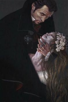 What a beautiful, classic vampire photo! (Anne Yvonne Gilbert illustrates The Vampyre and Other Macabre Tales, Folio edition) Art Vampire, Vampire Stories, Vampire Love, Vampire Photo, Dark Fantasy Art, Dark Art, Jeter Un Sort, Art Noir, Ange Demon
