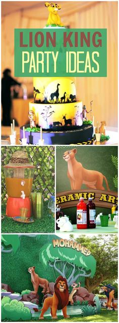 This Lion King party has lots of fun party stations! See more party ideas at CatchMyParty.com!
