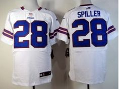 Nike Spiller White Bills Elite Jersey  $23