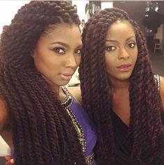 Afro twist . Beautiful women .